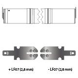 noodverlichting AMP faston LF07