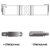 noodverlichting AMP faston LF08