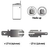 noodverlichting AMP faston LF15